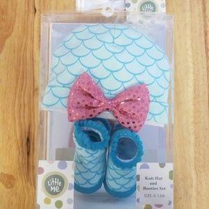 Little me mermaid hat and booties